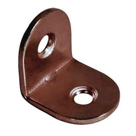 Piastra angolare acciaio bronzato L 25 x Sp 1.5 x H 15 mm  4 pezzi