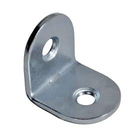Piastra angolare acciaio nichelato L 25 x Sp 1.5 x H 15 mm  4 pezzi