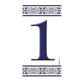 Numero Greca 1 , 7.5 x 15 cm