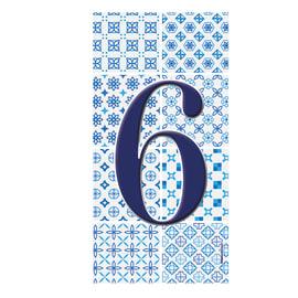 Numero Arabesque 6 , 7.5 x 15 cm