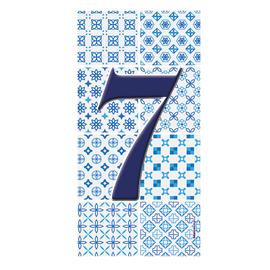 Numero Arabesque 7 , 7.5 x 15 cm