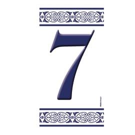 Numero Greca 7 , 7.5 x 15 cm