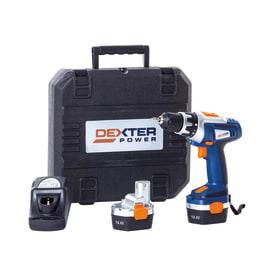 Trapano avvitatore a batteria DEXTER POWER , 14,4 V1.5 Ah, 2 batterie