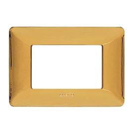 Placca BTICINO Matix 3 moduli oro lucido