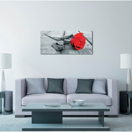 Quadro in legno Red rose 110x50 cm