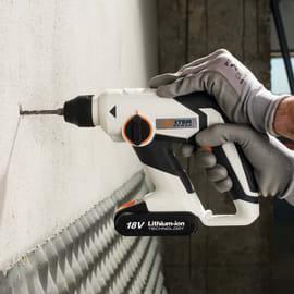 Martello tassellatore a batteria DEXTER POWER , 18 V , 1.2 J 2 Ah, 1 batteria
