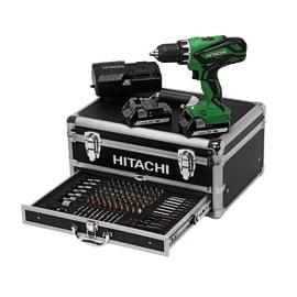Trapano avvitatore a batteria con percussione HITACHI , 18 V, 1.5 Ah, 2 batterie