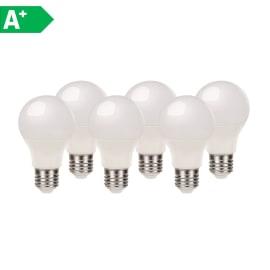 Lampadina LED E27 standard bianco caldo 9.7W = 806LM (equiv 60W) 220° LEXMAN, 6 pezzi