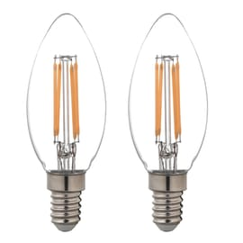 Lampadina Filamento LED E14 candela bianco caldo 4W = 470LM (equiv 40W) 360° LEXMAN