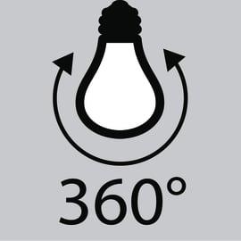 Lampadina Filamento LED E14 candela bianco freddo 4W = 470LM (equiv 40W) 360° LEXMAN