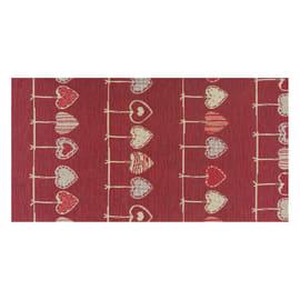Tappeto Cucina antiscivolo Deco cuore rosso 100x53 cm
