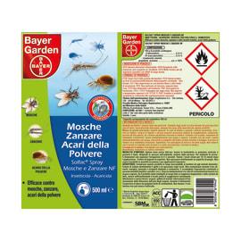Insetticida per zanzare, vespe, calabroni BAYER Solfac 500