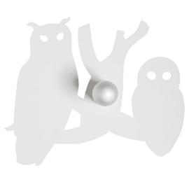 Applique Gufo + Civetta bianco, in ferro, 47 cm, E27 MAX60W IP20 SFORZIN