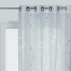 Tenda Bubbles bianco occhielli 140x280 cm