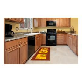 Tappeto Cucina antiscivolo Girasole marrone 190x57 cm