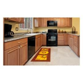 Tappeto Cucina antiscivolo Girasole marrone 240x57 cm