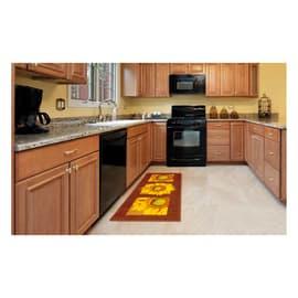 Tappeto Cucina antiscivolo Girasole marrone 290x57 cm