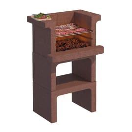 Barbecue in cemento refrattario LINEA VZ Rovigno senza cappa L 65 x P 49 x H 101 cm