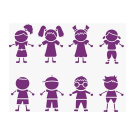 Stencil tema bambini LES DECORATIVES 38 x 0.1 cm
