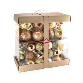 Sfera natalizia in plastica confezione da 58 pezzi