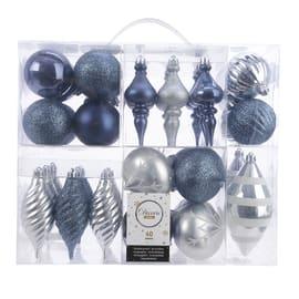 Sfera natalizia in plastica confezione da 40 pezzi