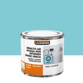 Smalto LUXENS base acqua blu miami 5 lucido 0,125 L