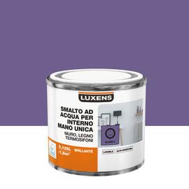 Smalto LUXENS base acqua marrone moka 6 lucido 0,125 L