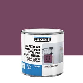 Smalto LUXENS base acqua rosa candy 2 opaco 0.5 L