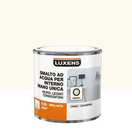 Smalto LUXENS base acqua bianco crema 5 lucido 0.5 L