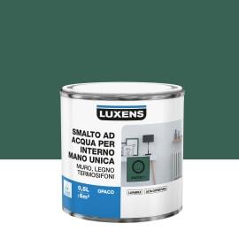 Smalto LUXENS base acqua verde esotico 1 opaco 0.5 L