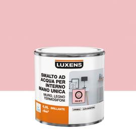 Smalto LUXENS base acqua rosa pinup 6 lucido 0.5 L
