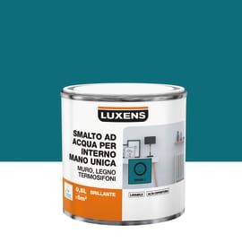 Smalto LUXENS base acqua blu miami 1 lucido 0.5 L