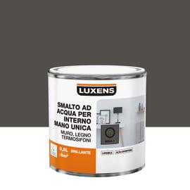 Smalto LUXENS base acqua marrone moka 6 lucido 0.5 L