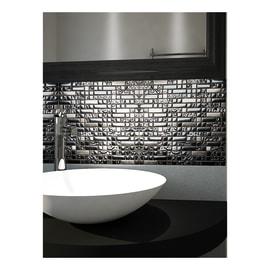 Mosaico Muretto H 30 x L 30 cm nero/argento