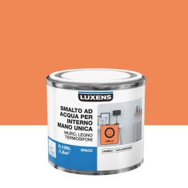 Smalto LUXENS base acqua arancio chili 5 opaco 0,125 L