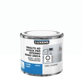 Smalto LUXENS base acqua bianco opaco 0,125 L