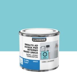 Smalto LUXENS base acqua blu miami 5 opaco 0,125 L