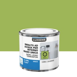 Smalto LUXENS base acqua verde bali 3 satinato 0,125 L