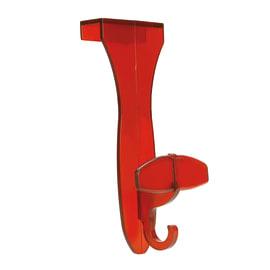 Appendiabiti in plastica rosso