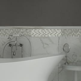 Mosaico Crystal H 30 x L 30 cm bianco