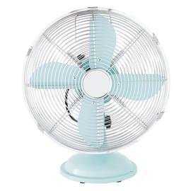 Ventilatore da appoggio EQUATION Mini Cooma azzurro blu 40 W Ø 30 cm
