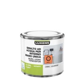 Smalto LUXENS base acqua arancio chili 5 satinato 0,125 L