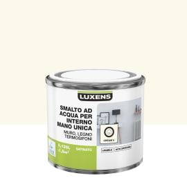 Smalto LUXENS base acqua bianco crema 3 satinato 0,125 L