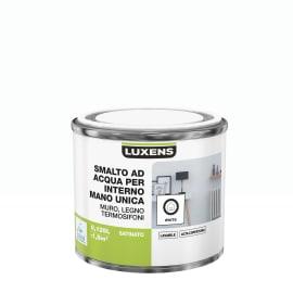 Smalto LUXENS base acqua bianco satinato 0,125 L