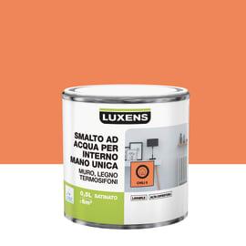 Smalto LUXENS base acqua arancio chili 5 satinato 0.5 L