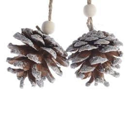 Ornamento appeso grigio / argento Ø 6 cmL 6 x H 6 cm