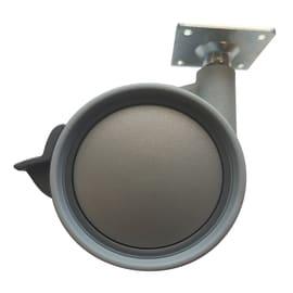 Ruota in caucciù grigio Ø 75 cm con freno