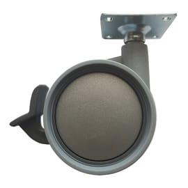 Ruota in caucciù grigio Ø 60 cm con freno