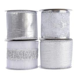 Ornamento appeso grigio / argento Ø 10 cmL 10 x H 6.3 cm