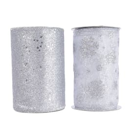 Ornamento appeso grigio / argento Ø 10 cmL 10 x H 12.8 cm